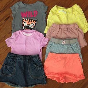 Girls Size 18 Months Summer Shorts & Shirt Bundle